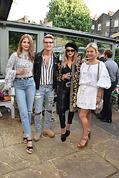 Left to right, Millie Mackintosh, Oliver Proudlock, guest and Olivia Perry at The Ivy Chelsea Garden's Annual Summer Garden Party, The Ivy Chelsea Garden, 197 King's Road, London England. 9 May 2017.<br /> Photo by Dominic O'Neill/SilverHub 0203 174 1069 sales@silverhubmedia.com