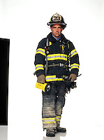 """Lieutenant, Ladder 9, Engine 33, FDNY<br /> <br /> Having just come off the night shift, Baldassarre was having breakfast at his firehouse in lower Manhattan when a fellow firefighter announced that the World Trade Center had just been hit by a plane.<br /> <br /> """"I went down to the corner of Great Jones and Lafayette to take a look at the impact. As I headed back to the firehouse, I saw Engine 33 responding to the alarm. I approached the right and said to Lieutenant Pfeifer, 'Kev, be careful down there, it doesn't look good.' Then they drove past me. With the exception of Richard Conte, the chauffeur, the guys on that crew - Kevin Pfeifer, Robert King Jr., David Arce, Michael Boyle, Robert Evans and Keithroy Maynard - never came back."""""""