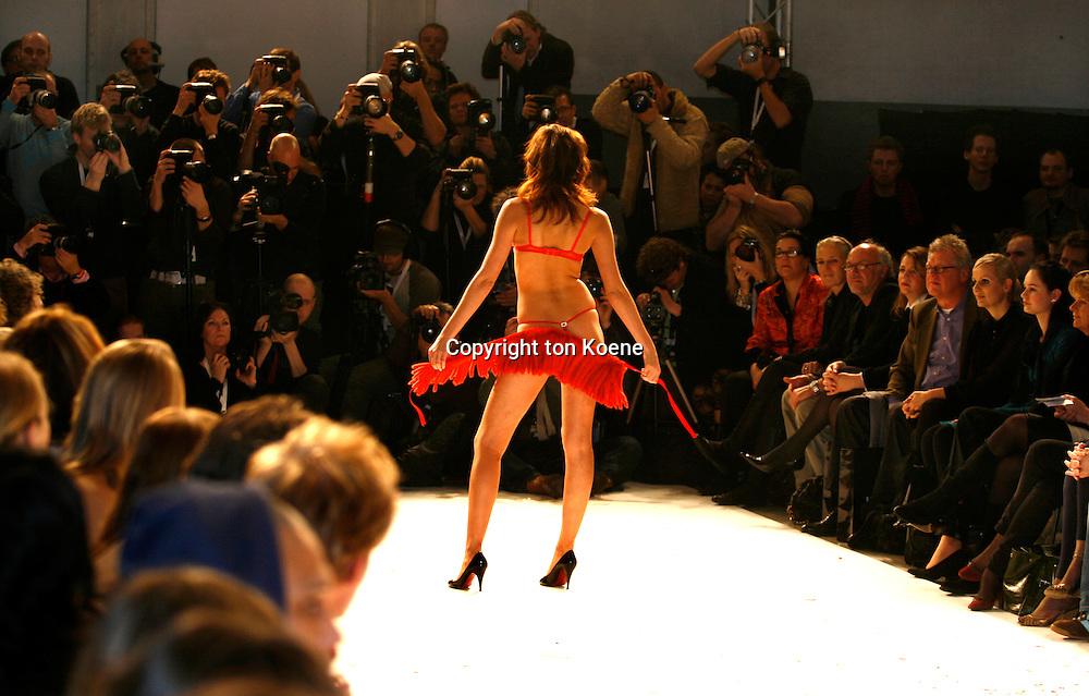 models on the catwalk during fashionweek