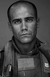 2nd Lt. Alex Martin, 23, La Jolla, California. 2nd Platoon, Kilo Company, 3rd Battalion, 1st Marine Regiment, 1st Marine Division, at the company's firm base in Hit, Iraq on Friday Sept. 23, 2005.