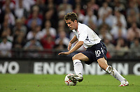 Photo: Rich Eaton.<br /> <br /> England v Russia. UEFA European Championships Qualifying. 12/09/2007. England's Michael Owen during his 2 goal man of the match performance.