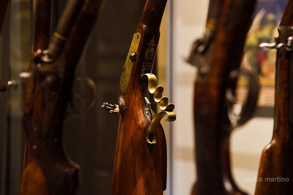 Ferlach, Jagd und Büchsenmachermuseum. traditional shotguns.