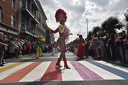 August 12, 2017 - Antwerp, Belgium - People celebrate at the Antwerp pride march this year. (Credit Image: © Frederik Sadones/Pacific Press via ZUMA Wire)