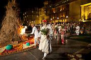 Shriji Arvind Singh Mewar of Udaipur, Custodian of House of Mewar, Hindu Holi Fire Puja at City Palace Udaipur Rajasthan India