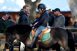 The Duke and Duchess of Sussex during a visit to the Moroccan Royal Federation of Equestrian Sports in Rabat on the third day of their tour of Morocco.