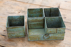 Containers and tray