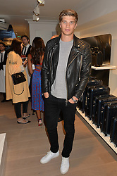 TOBY HUNTINGTON-WHITELEY at the launch of the new Rimowa store at 153a New Bond Street, London on 29th June 2016.