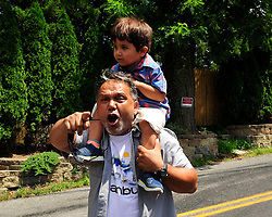 Protestors in support of Turkish President Recep Tayyip Erdogan clash with local security and state police outside at his Pocono Mountain compound of Fethullah Gulen on Saturday, July 16th, 2016 in Saylorsburg, Pennsylvania.