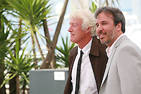 Director of Photography Roger Deakins and Director Denis Villeneuve at the Sicario film photo call at the 68th Cannes Film Festival Tuesday May 19th 2015, Cannes, France.