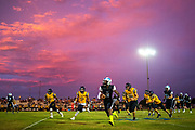 Wesley Chapel High School quarterback Isaiah Bolden finds room to run during the first half of a football game against Land O' Lakes High School in Wesley Chapel, Florida, U.S., August 17, 2017.