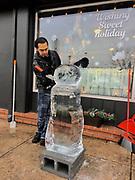 Juan Carlos Ruiz, Jr. Berks Co., Ice carving festival, West Reading, PA