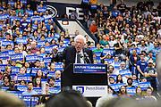 Bernie Sanders speaks at Penn State's Rec Hall one week before Pennsylvania's primary election.