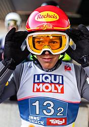 24.02.2019, Bergiselschanze, Innsbruck, AUT, FIS Weltmeisterschaften Ski Nordisch, Seefeld 2019, Nordischen Kombination, Teambewerb, Skisprung, Probesprung, im Bild Franz Josef Rehrl (AUT) // Franz Josef Rehrl of Austria during the trial jump for the team competition Nordic Combined of FIS Nordic Ski World Championships 2019. Bergiselschanze in Innsbruck, Austria on 2019/02/24. EXPA Pictures © 2019, PhotoCredit: EXPA/ JFK