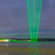 Light Veils I, Permanent laser installation, Weymouth, Dorset.