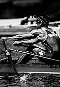 Plovdiv BULGARIA. 2017 FISA. Rowing World U23 Championships. <br /> SUI BLM 1X.Kaspar BUEHRER, moves away from the start in his<br /> Thursday Repechage <br /> <br /> 12:45:01  Thursday  20.07.17   <br /> <br /> [Mandatory Credit. Peter SPURRIER/Intersport Images].