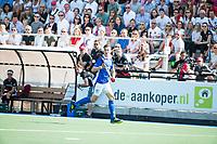 UTRECHT -  Philip Meulenbroek (Kampong)    tijdens   de finale van de play-offs om de landtitel tussen de heren van Kampong en Amsterdam (3-1). Kampong kampong kampioen van Nederland. COPYRIGHT  KOEN SUYK