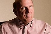 Steve  Ballmer, CEO of Microsoft, photographed by Brian Smale for Businessweek Magazine at Microsoft headquarters in Redmond, WA.