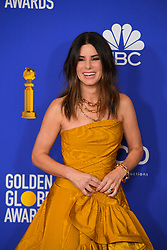 January 5, 2020, Beverly Hills, California, USA: SANDRA BULLOCK in the Press Room during the 77th Annual Golden Globe Awards, at The Beverly Hilton Hotel. (Credit Image: © Kevin Sullivan via ZUMA Wire)