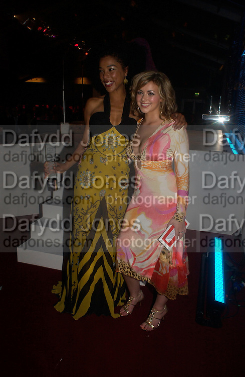 Sophie Okonedo and Charlotte Church. Glamour Women Of The Year Awards 2005, Berkeley Square, London.  June 7 2005. ONE TIME USE ONLY - DO NOT ARCHIVE  © Copyright Photograph by Dafydd Jones 66 Stockwell Park Rd. London SW9 0DA Tel 020 7733 0108 www.dafjones.com