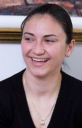 Tamara Stojkovic when Slovenian athletes and their coaches sign contracts with Athletic federation of Slovenia for year 2009,  in AZS, Ljubljana, Slovenia, on March 2, 2009. (Photo by Vid Ponikvar / Sportida)