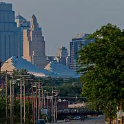 View of the Kansas City skyline from Southwest Boulevard.