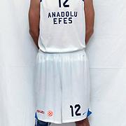 Anadolu Efes's Kerem GONLUM during their Turkish Airlines Euroleague Basketball Group C Game 2 match Anadolu Efes between Belgacom Spirou  at Abdi Ipekci Arena in Istanbul, Turkey, Wednesday, October 26, 2011. Photo by TURKPIX