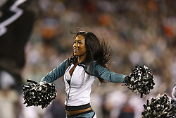 A Philadelphia Eagles Cheerleader performs  during the NFL game between the Chicago Bears and the Philadelphia Eagles on Sunday, December 22nd 2013 in Philadelphia. The Eagles won 54-11. (Photo by Brian Garfinkel)