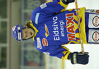 Ishockey, Stavanger Ishall, Stavanger 30/11-03, Stavanger-Storhamar (4-2), <br />Ole E. Dahlstrøm (Storhamar) var ikke særlig fornøyd med resultatet,<br />Foto: Sigbjørn Andreas Hofsmo, Digitalsport