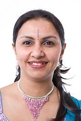 Woman wearing traditional Asian jewellery,