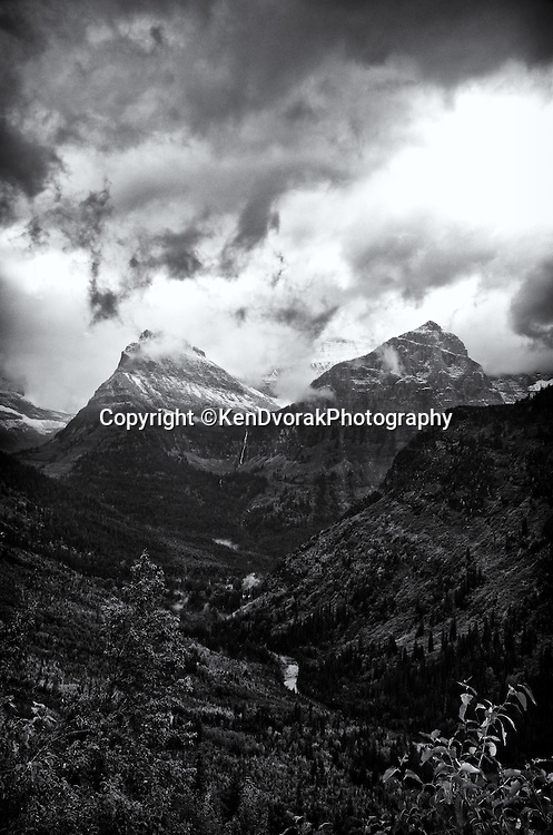 Glacier NP 2013<br /> edited 1/28/14<br /> converted to B&W 1/28/14