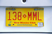 New Mexico license plate, Albuquerque, New Mexico