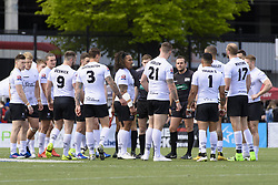 May 20, 2017 - Toronto, Ontario, Canada - Toronto Wolfpack players gather before the start of the game between Toronto Wolfpack and Barrow Raiders (Credit Image: © Angel Marchini via ZUMA Wire)