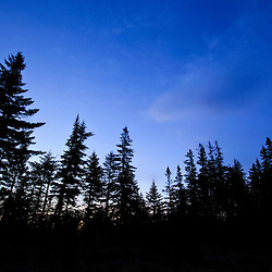Dawn at Caribou Pond in Crocker Cirque at the base of Crocker Mountain in Stratton, Maine.  Near the Appalachian Trail.