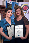NO FEE PICTURES<br /> 25/1/19 Gemma Fullam, winner of Best Short Haul and Madelaine Keane, winner of Best Adventure pictured at the Travel Extra Travel Journalist of the Year 2018 at the Clayton Hotel, Ballsbridge in Dublin. Picture; Arthur Carron