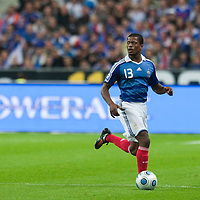 05 September 2009: French defender Patrice Evra runs the ball during the World Cup 2010 qualifying football match France vs. Romania (1-1), on September 5, 2009 at the Stade de France stadium in Saint-Denis, near Paris, France.