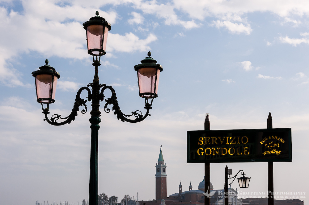 Italy, Venice. Gondola service.