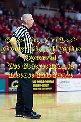 6 February 2010: Referee Shawn Lehigh. The Redbirds of Illinois State pull out a win against the Bulldogs of Drake 71-68 on Doug Collins Court inside Redbird Arena at Normal Illinois.