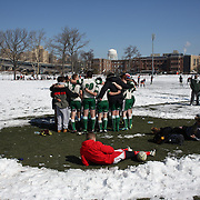 Team bonding during the Four Leaf 15s Rugby Tournament which attracted over 60 clubs teams from New York and Interstate. Randall's Island Park, New York,  USA. 21st March 2015. Photo Tim Clayton