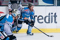 Aaron McKenzie (EHC Liwest Black Wings, #37) during ice-hockey match between HDD Tilia Olimpija and EHC Liwest Black Wings Linz in 37th Round of EBEL league, on Januar 9, 2011 at Hala Tivoli, Ljubljana, Slovenia. (Photo By Matic Klansek Velej / Sportida.com)
