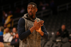 February 27, 2019 - Los Angeles, CA, U.S. - LOS ANGELES, CA - FEBRUARY 27: New Orleans Pelicans Guard Ian Clark (2) before the New Orleans Pelicans versus Los Angeles Lakers game on February 27, 2019, at Staples Center in Los Angeles, CA. (Photo by Icon Sportswire) (Credit Image: © Icon Sportswire/Icon SMI via ZUMA Press)