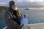 Dr Alastair Birtles, minke whale researcher photographed at the Great Barrier Reef, Queensland, Australia, Pacific Ocean.