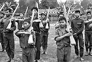 Child recruits train with the Karen National Liberation Army. Both the government of Burma and guerrilla factions opposing the military junta use children as combatants.