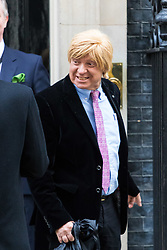 London, November 29 2017. Michael Fabricant (left) is seen leaving Downing Street following a meeting at No. 10. © Paul Davey
