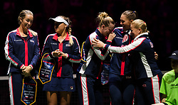 November 10, 2018 - Prague, Czech Republic - Team United States during the opening ceremony at the 2018 Fed Cup Final between the Czech Republic and the United States of America (Credit Image: © AFP7 via ZUMA Wire)