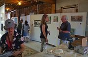 Plein Aire painting organizers Russ Slocum (r) and Karen Weber (l), West Reading Art Fest, Berks Co., PA