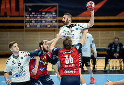Ozgur Sarak of Trimo Trebnje during handball match between RK Trimo Trebnje and Rhein-Neckar Loewen in 6th Round of EHF Europe League 2020/21, on February 10, 2021 in Hala Tivoli, Ljubljana, Slovenia. Photo by Vid Ponikvar / Sportida