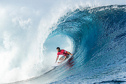 Aug 12, 2017 - Teahupo'o, French Polynesia, Tahiti - Michel Bourez of Tahiti, current No.13 on the Jeep Leaderboard advanced to Round Three of the Billabong Pro Tahiti after defeating Jadson Andre of Brazil in Heat 6 of Round Two. (Credit Image: © Kelly Cestari/World Surf League via ZUMA Wire)