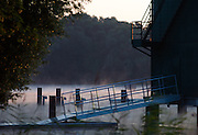 Hamburg. GERMANY. Sunrise over the regatta course at the 2014FISA Junior World rowing. Championships.  06:06:04  Wednesday  06/08/2014  [Mandatory Credit; Peter Spurrier/Intersport-images] © Peter SPURRIER, Atmospheric, Rowing