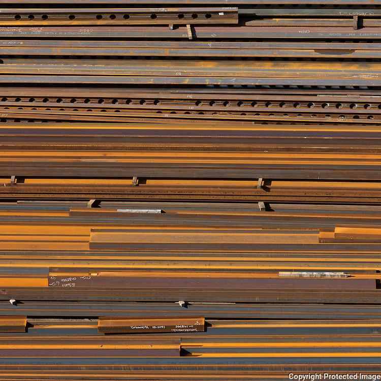 Yard, AIC (Arabian International Company) Steel, a structural steel fabricator, Newport, Gwent,
