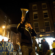 A student group has taken to the streets of Dublin in protest at the alleged violent response of gardaí to a demonstration in the city centre a couple days earlier.
